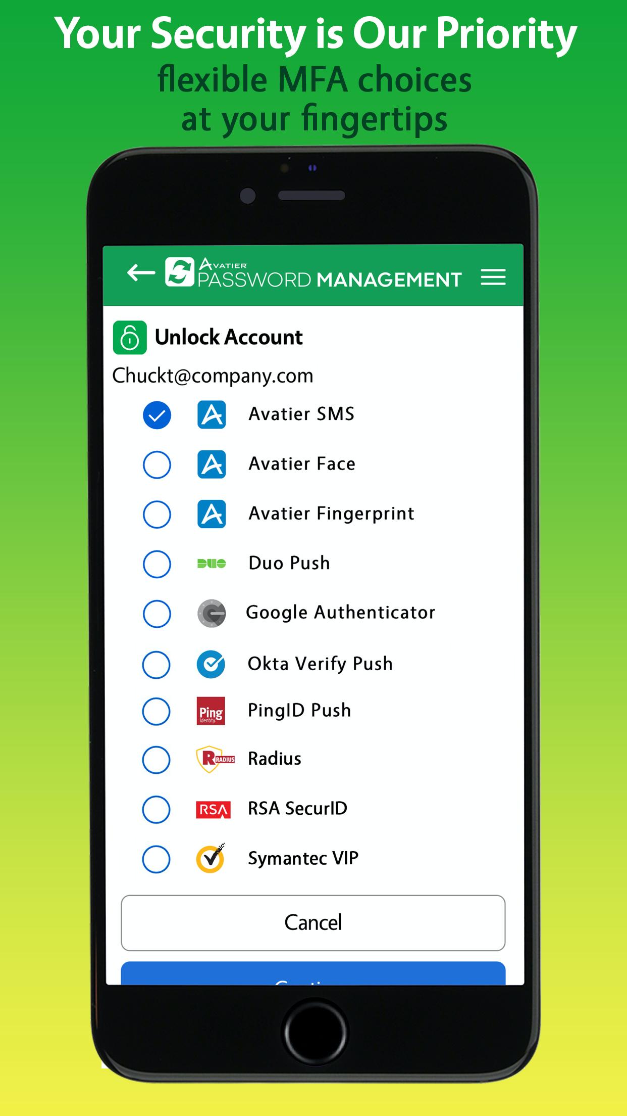 Avatier Identity Anywhere Password Management