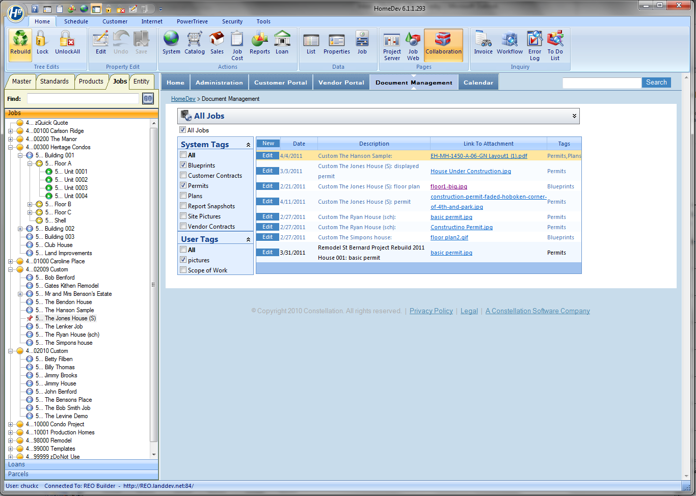 HomeDev Pro document management