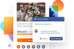 GoFundMe Charity screenshot: Users can share donation pages on Facebook and Twitter