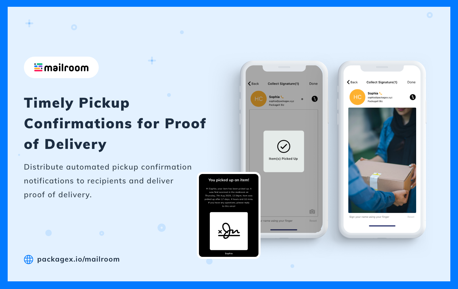 Contactless Package Delivery Management Software