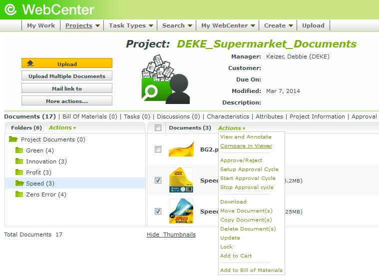 WebCenter documents
