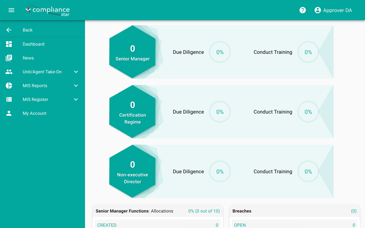 Compliance Star due diligence and training tracking