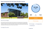 360Alumni screenshot: Anyone, whether a member of the community or not, can donate easily with 360Alumni's single-page giving experience.