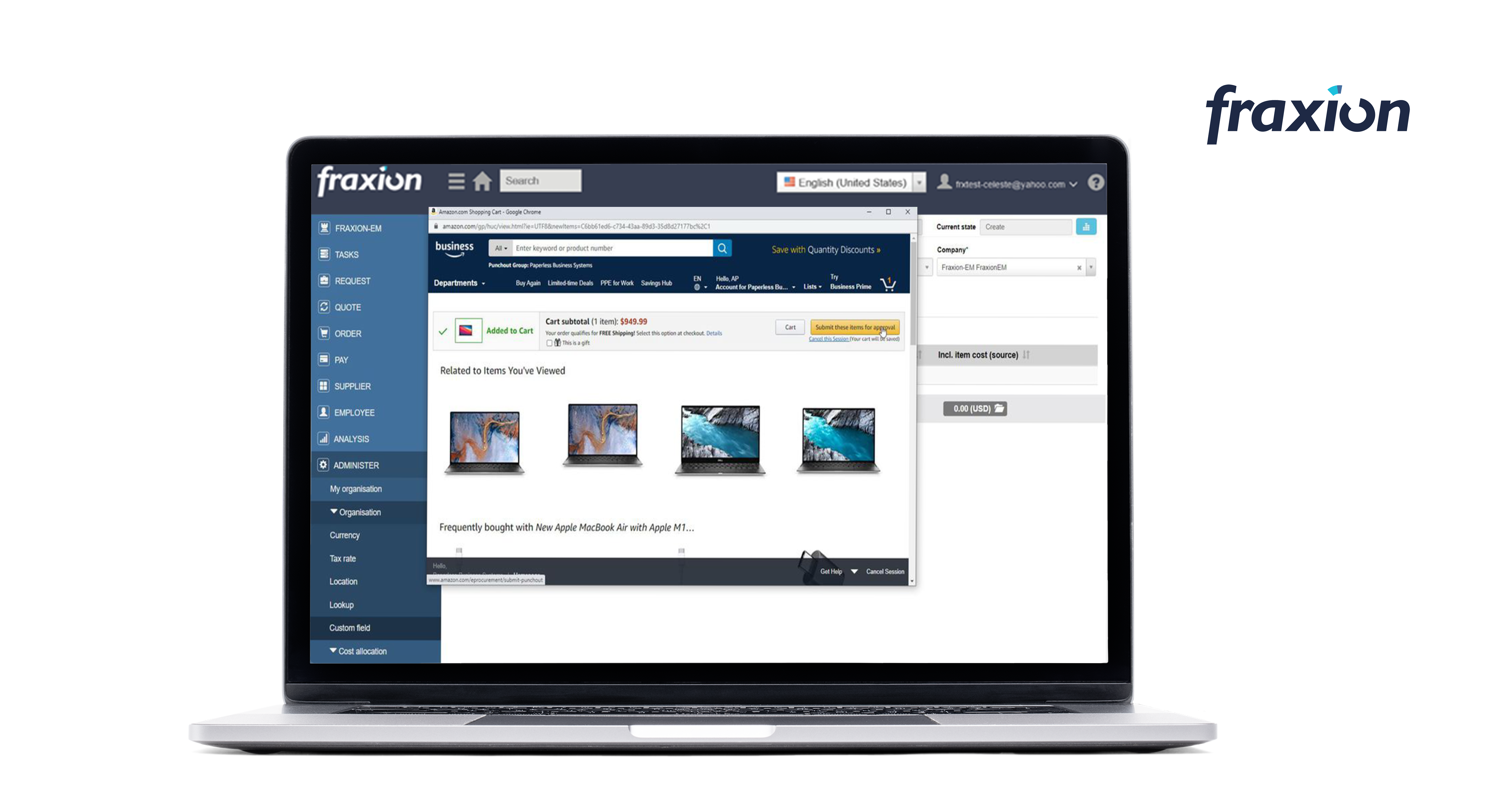 Fraxion Software - Punch out to strategic vendors and save