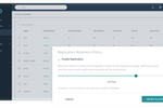 Rubrik screenshot: Users can control how long data is stored on the replication target
