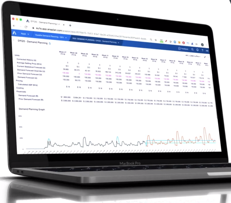 Vuealta Demand Planning Software - Vuealta Demand Planning data visualization
