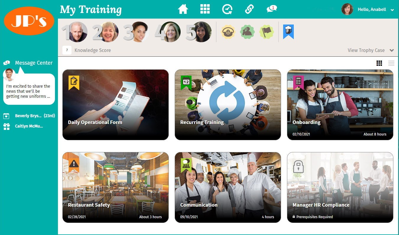 DiscoverLink Talent LMS Software - Learner View - My Training Grid View