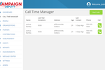 Campaign Deputy screenshot: Campaign Deputy call time manager