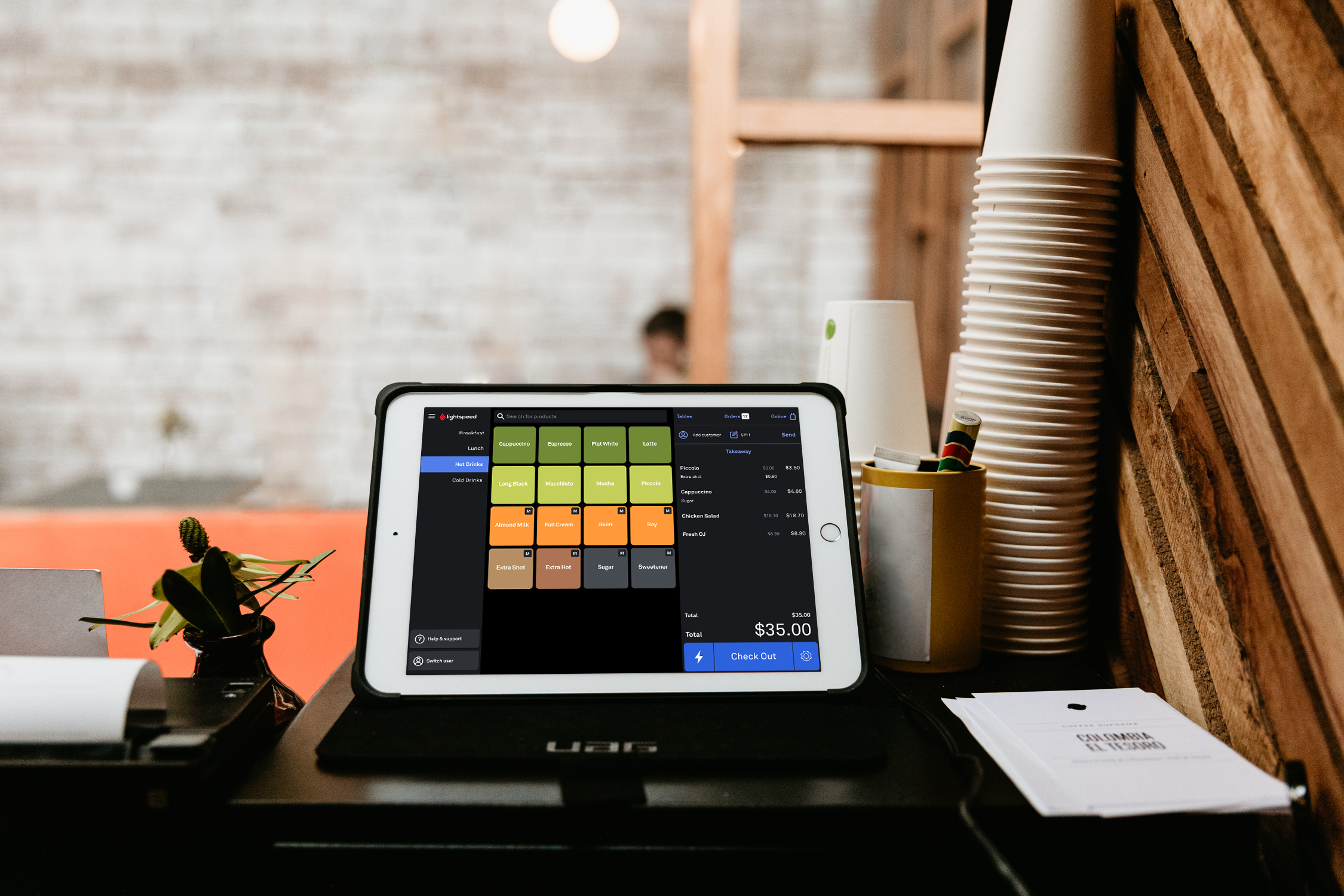 Lightspeed POS screenshot: Built for restaurants, bars, cafes, bakeries, breweries and everything in-between!