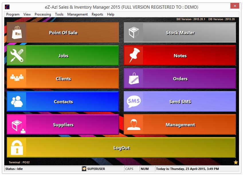 Starter screen