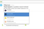 RFPIO screenshot: Collaborate across your entire organization using in-app comments and @mentioning