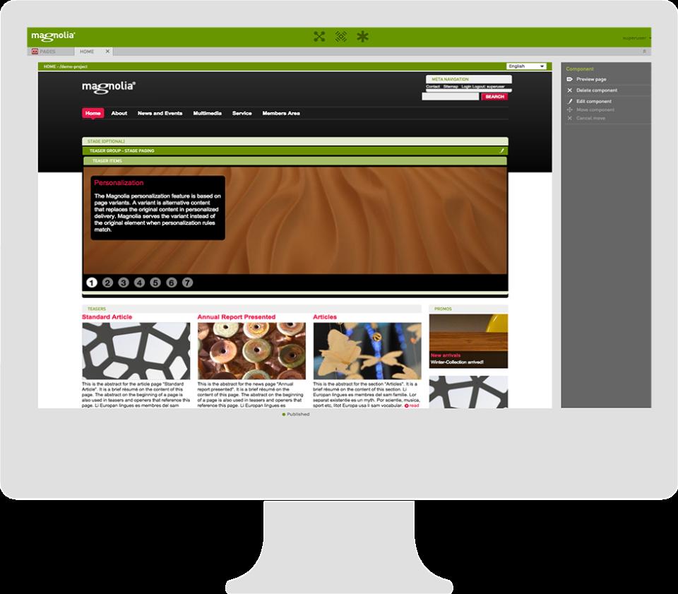 Magnolia content customization