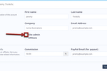 Thinkific screenshot: Users can set up both site admins and affiliates with Thinkific