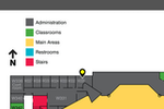 TouchPoint screenshot: Users can upload campus maps into TouchPoint, to assist members in finding their way to events
