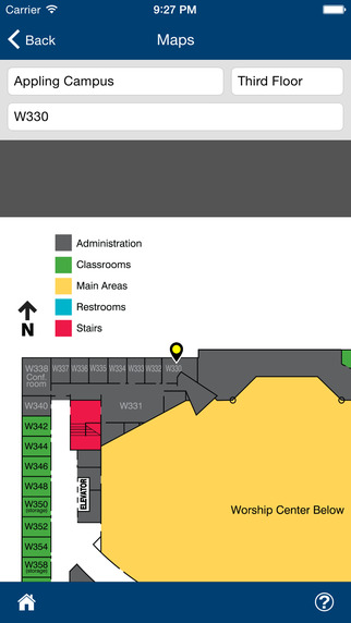Users can upload campus maps into TouchPoint, to assist members in finding their way to events