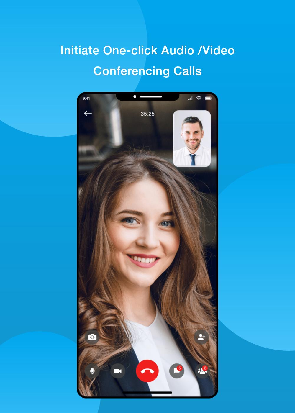 Initiate One-click audio/video conferencing calls