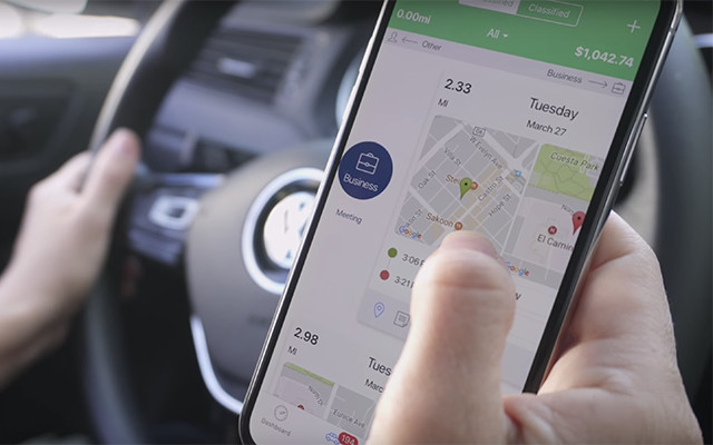 Logbook Mileage Tracker by Veryfi used in the field by Uber driver.