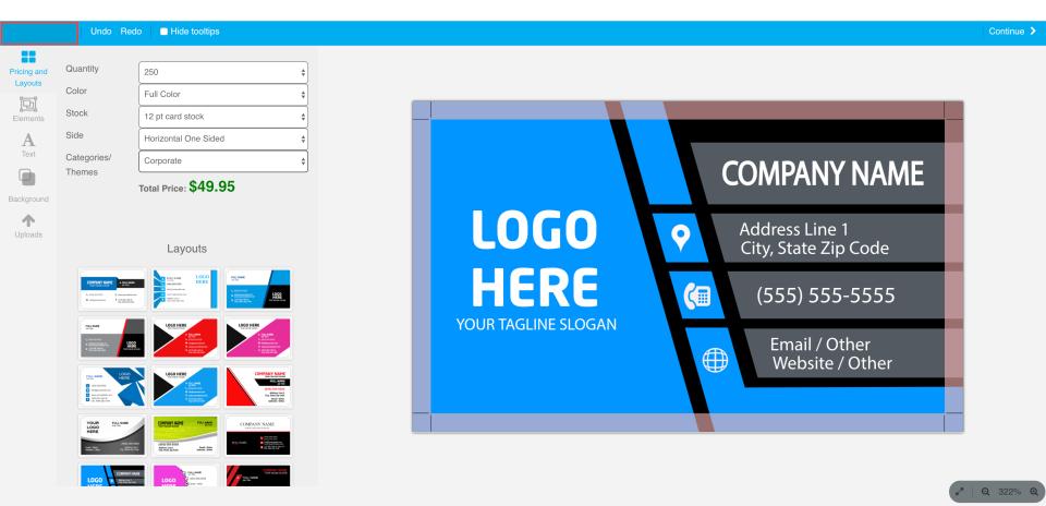 Configurable Designer UI