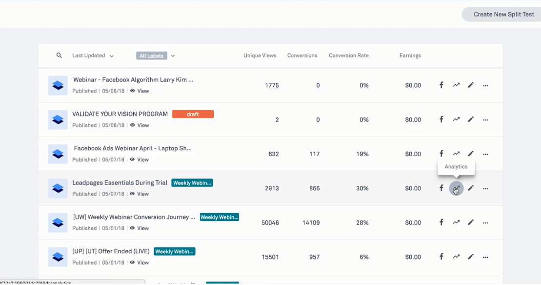 LeadPages Software - Track revenue