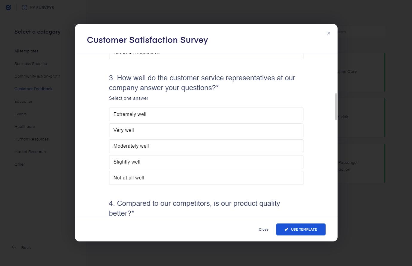 Survio customer satisfaction survey