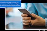 Schermopname van Marketing 360: Text message marketing at your fingertips.