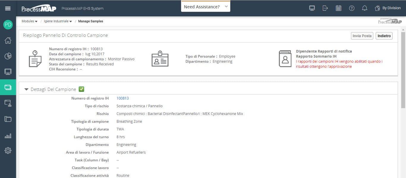 ProcessMAP EHS Platform Software - Incident details