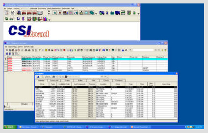 CSIRoad showing Intermodal software on Windows platform