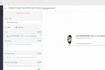 Engage360 Screenshot: Send personalized browser push messages to visitors