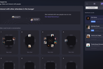 Airmeet screenshot: Social lounge with speed networking