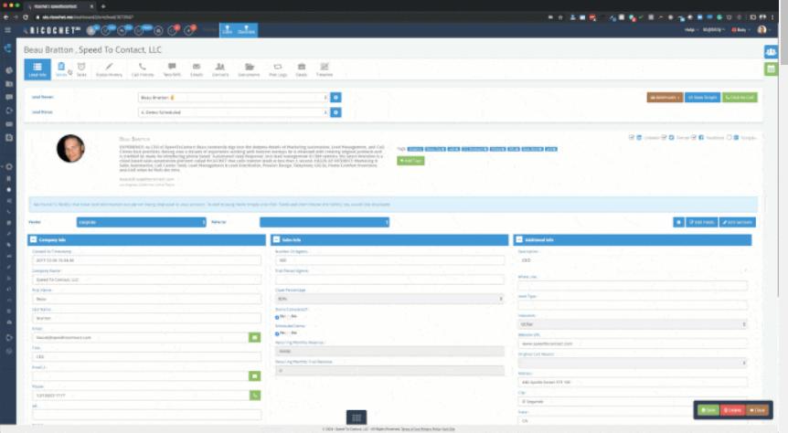Ricochet360 admin dashboard