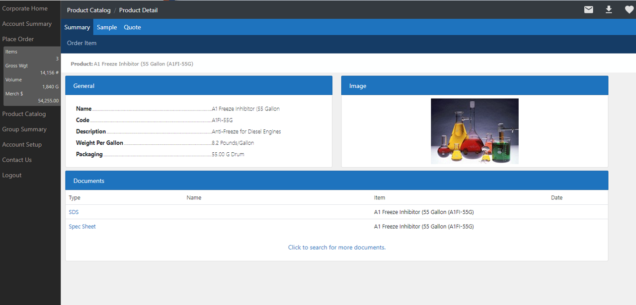 Datacor ERP Software - Customer Web Portal Catalog