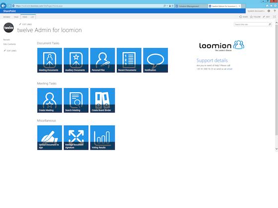 Twelve Directors' Portal Software - Twelve Directors' Portal dashboard