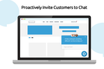 Comm100 Live Chat screenshot: Proactively Invite Customers to Chat