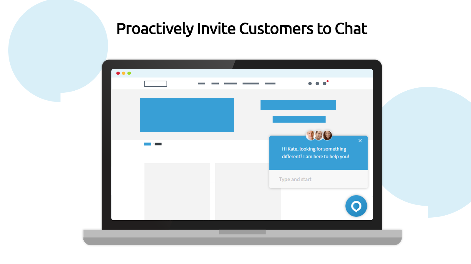 Proactively Invite Customers to Chat