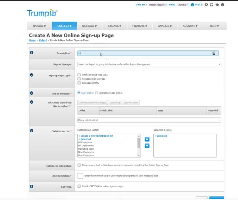 Trumpia Software - 2