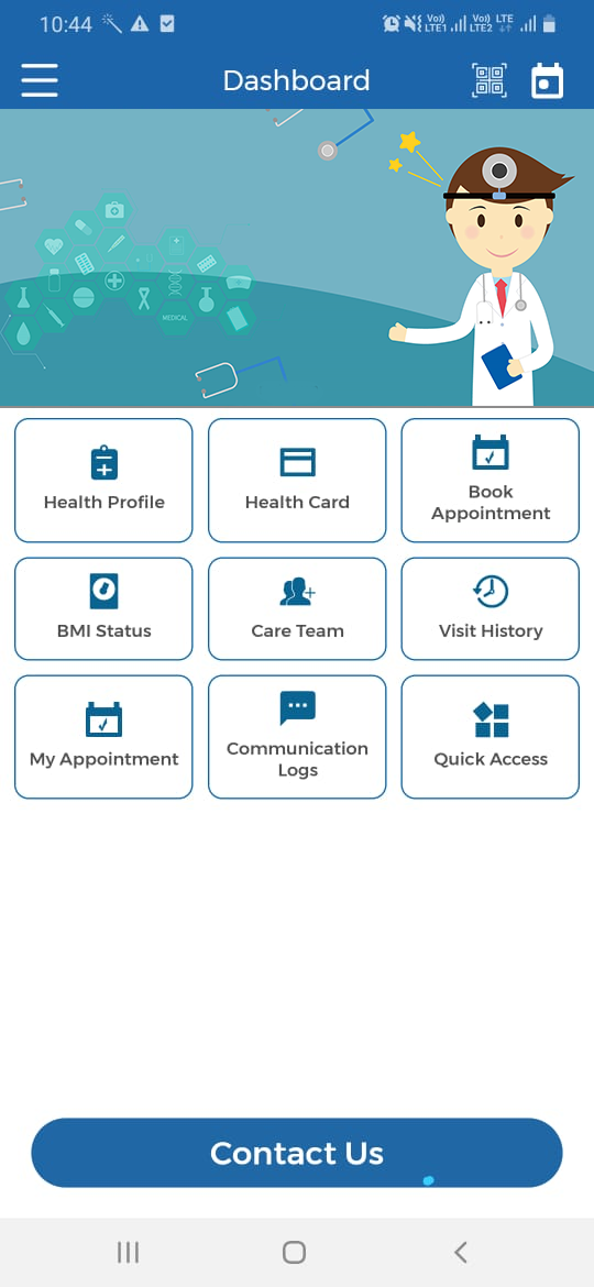 VCDoctor Lifecare Software - dashboad-doctor 1
