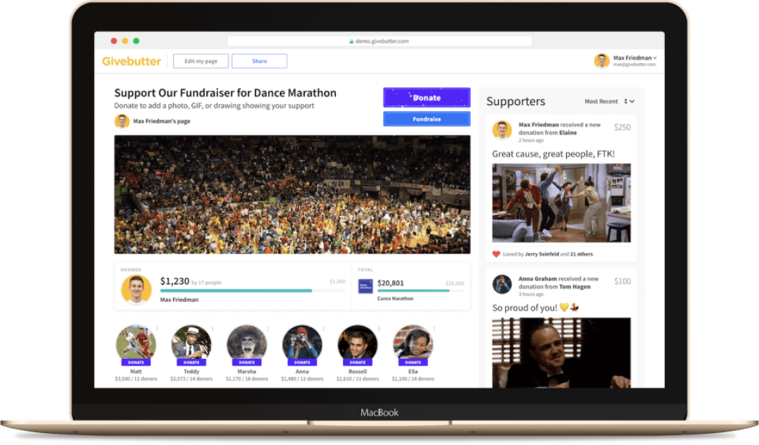 Run fundraising campaigns