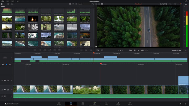 DaVinci Resolve portable editing