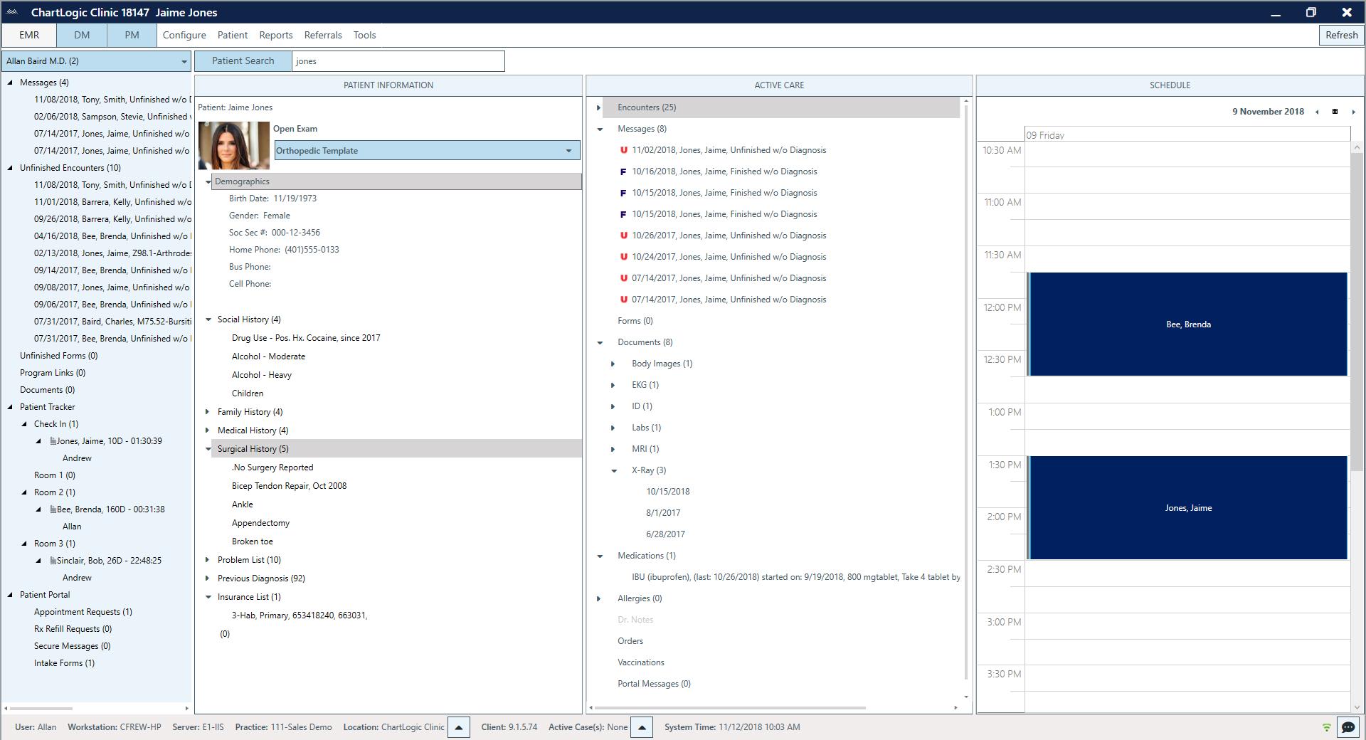 ChartLogic EHR Software - EHR dashboard