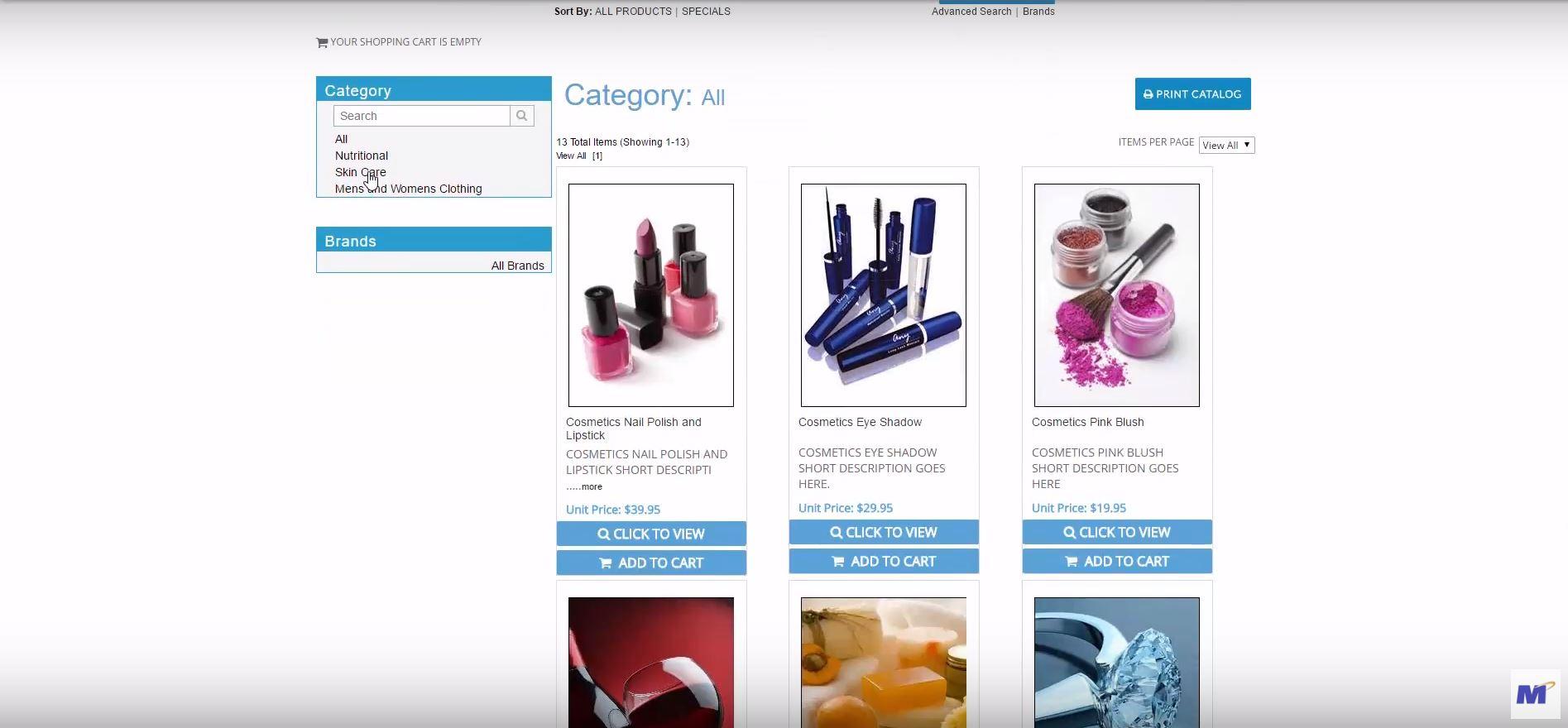 MarketPowerPRO product catalog