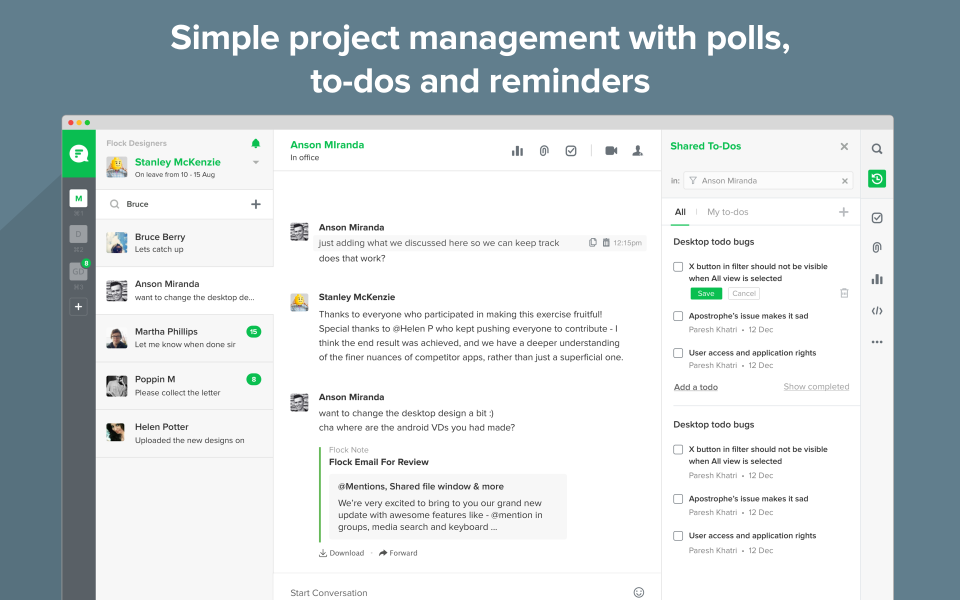 Flock Project Management