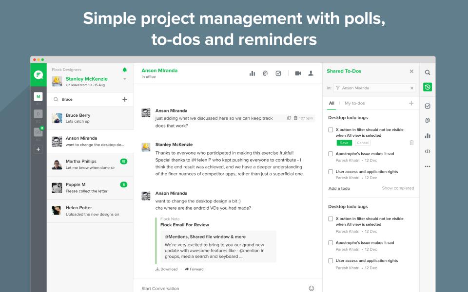 Flock Project Management