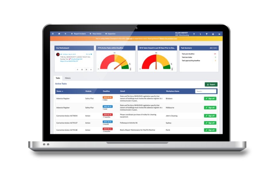 Safety Champion Software - Our GO FREE Plan