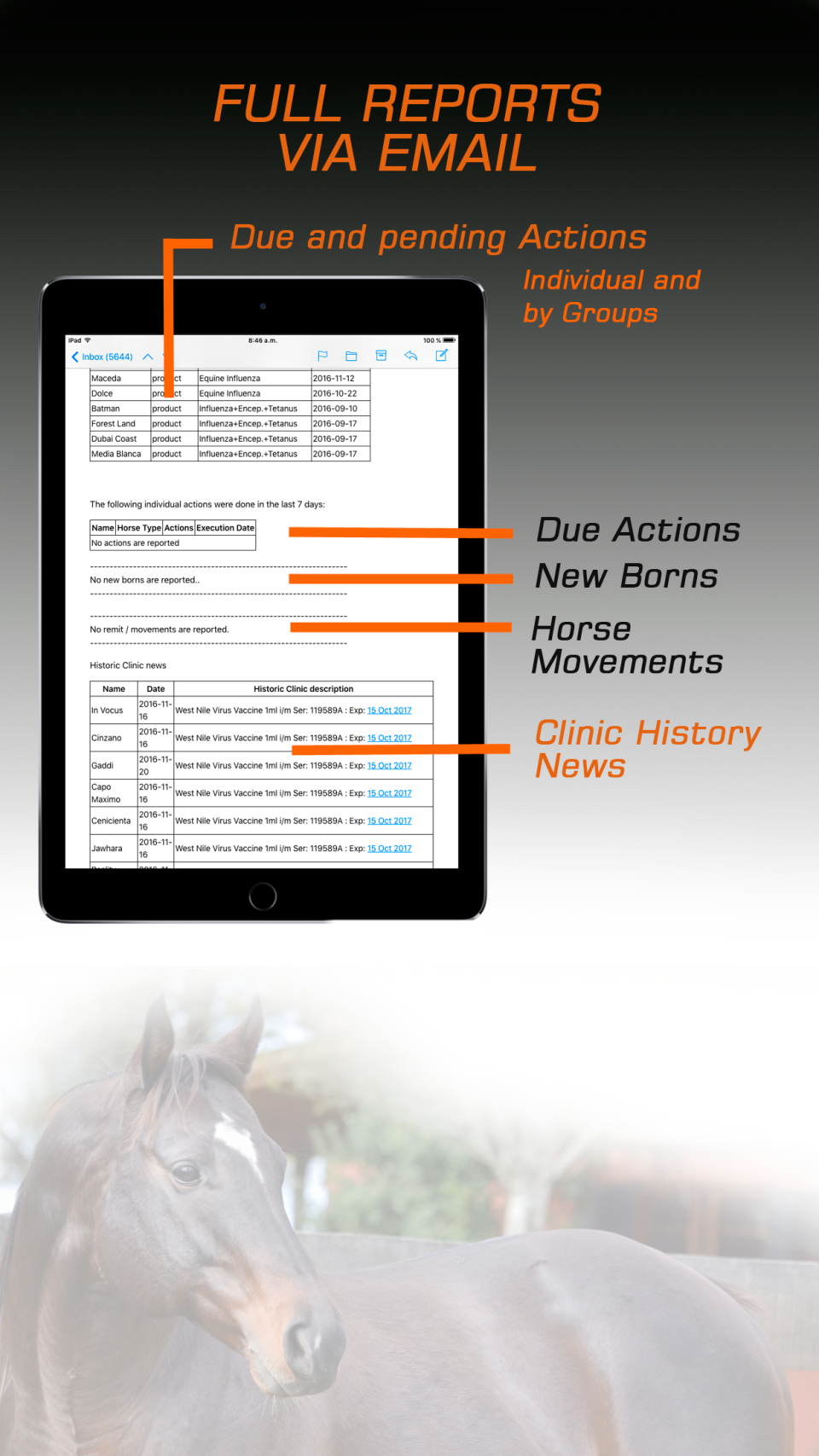 Breeders App screenshot: Breeders APP reporting