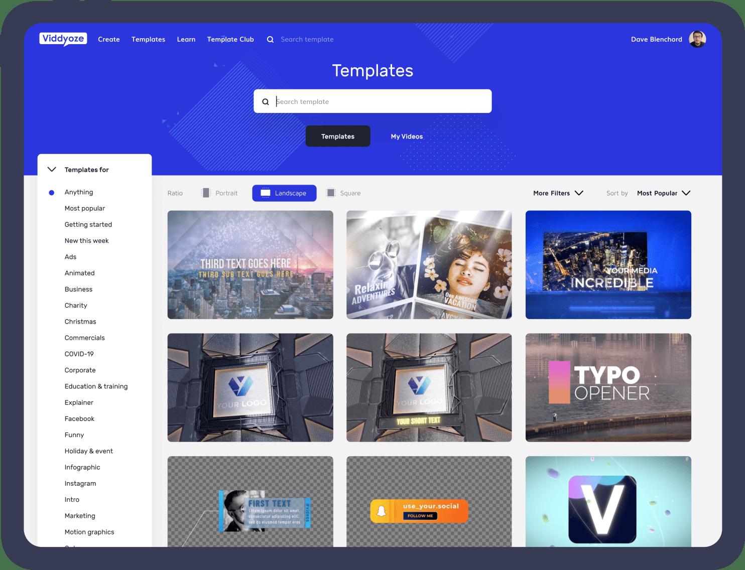 Viddyoze templates