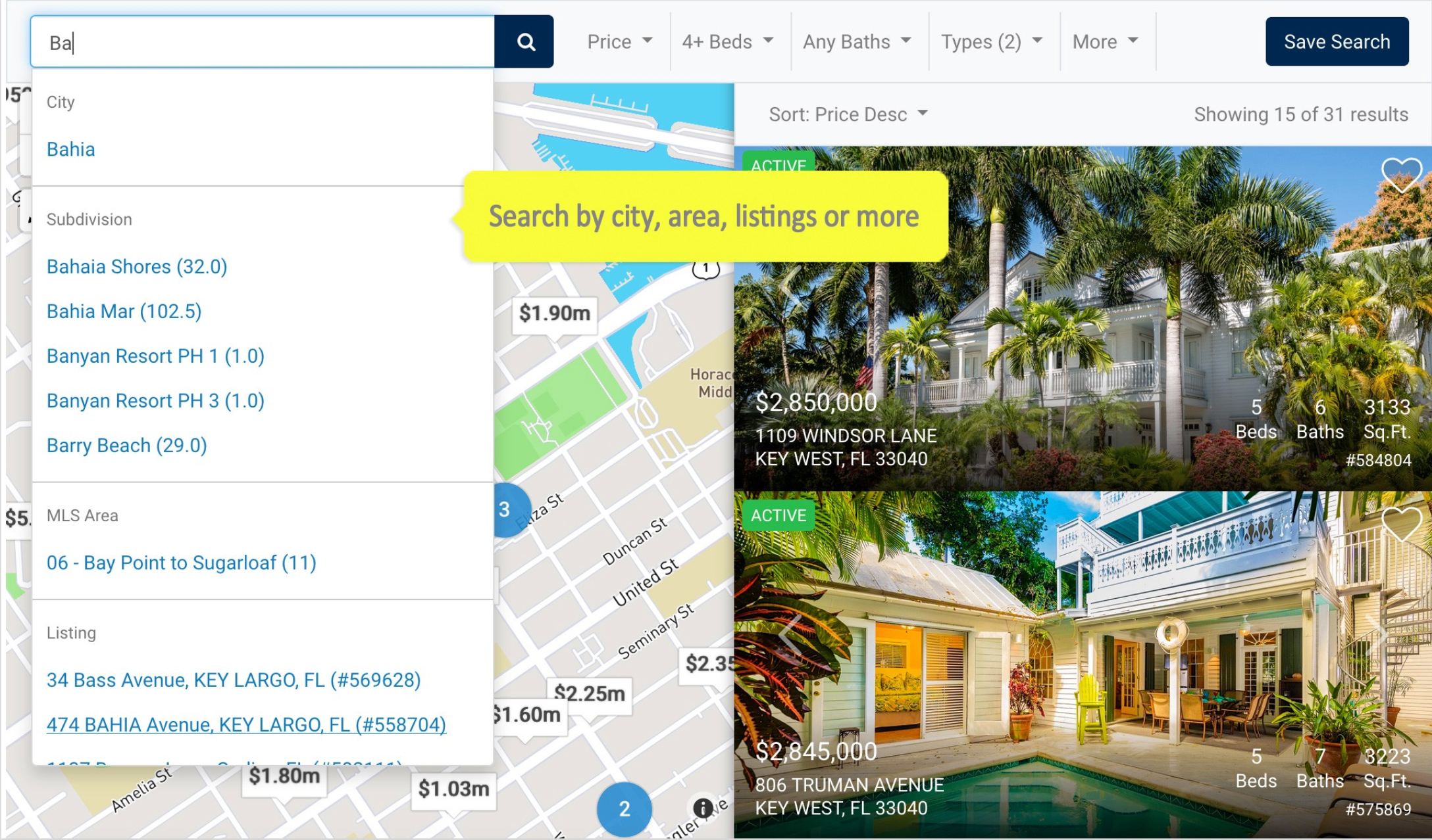 iHomefinder Software - The most powerful IDX search and lead capture available, Eureka search combines advanced IDX property search options with mapped results to give your site a search that rivals the big real estate portals.