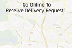 E-Delivery screenshot: E-Delivery receive delivery requests