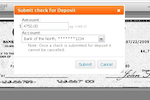 Earth Class Mail screenshot: Check Deposit - it's easy to deposit checks when they come in.