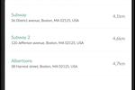 Captura de pantalla de Repsly: Places list
