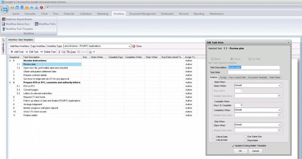 BHL Insight workflow management